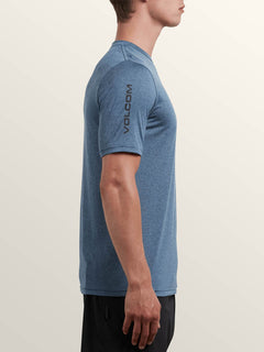 Lido Heather Short Sleeve Rashguard In Deep Blue, Alternate View