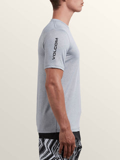 Lido Heather Short Sleeve Rashguard In Pewter, Alternate View