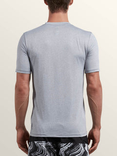 Lido Heather Short Sleeve Rashguard In Pewter, Back View