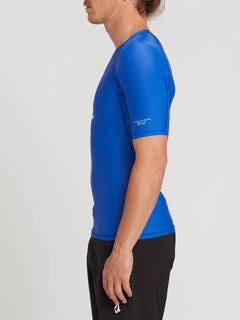 Lido Solid Short Sleeve Rashguard In Snow Royal, Alternate View