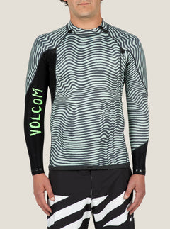 Vibes Long Sleeve Rashguard In Black, Alternate View