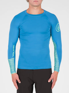 Vibes Long Sleeve Rashguard In Deep Water, Front View