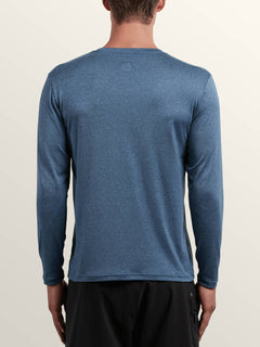 Lido Heather Long Sleeve Rashguard In Deep Blue, Back View