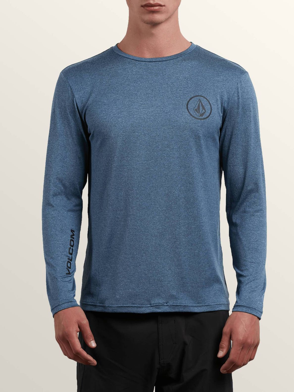 Lido Heather Long Sleeve Rashguard In Deep Blue, Front View