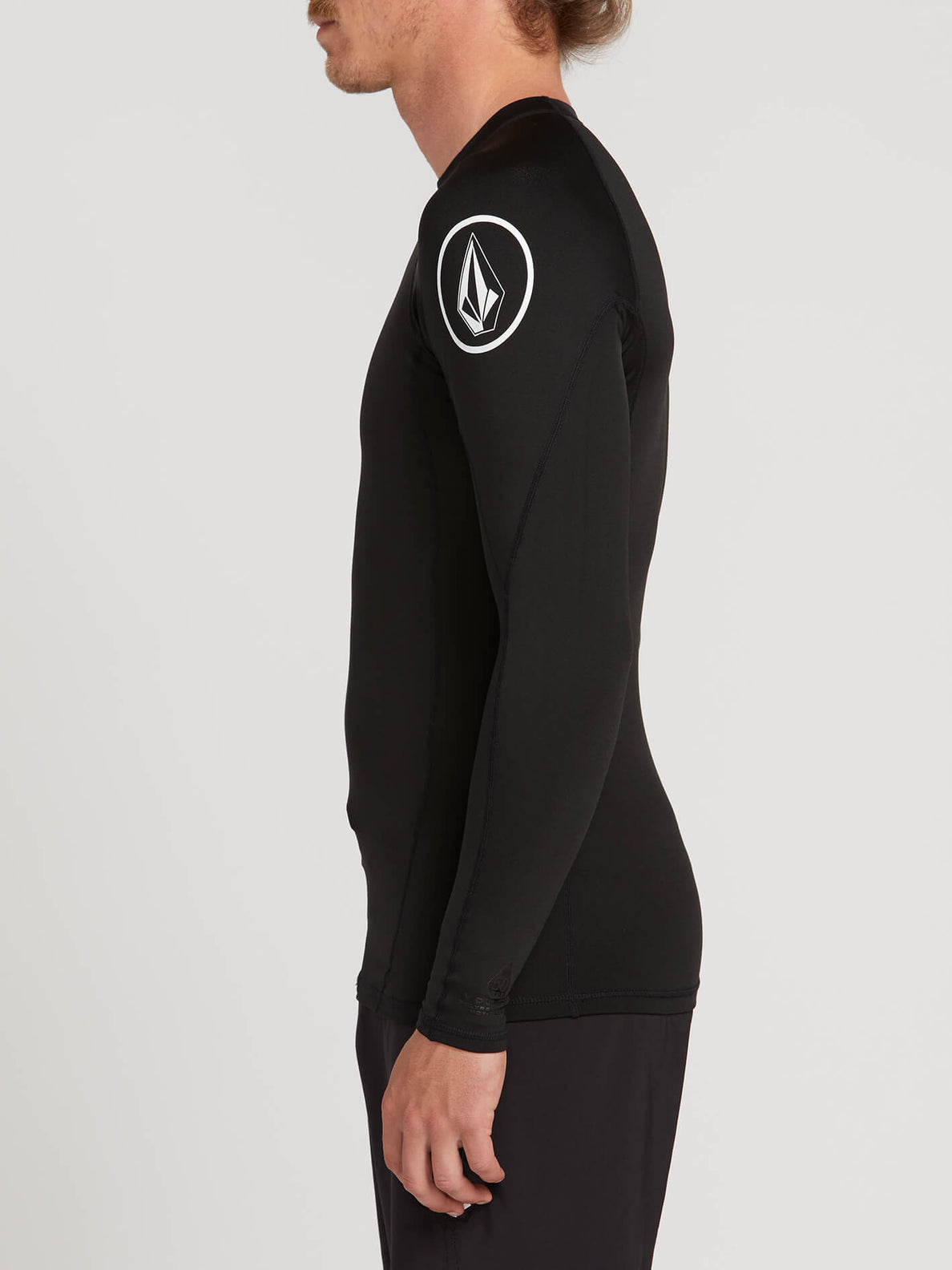 Hotainer Long Sleeve Rashguard In Black, Alternate View