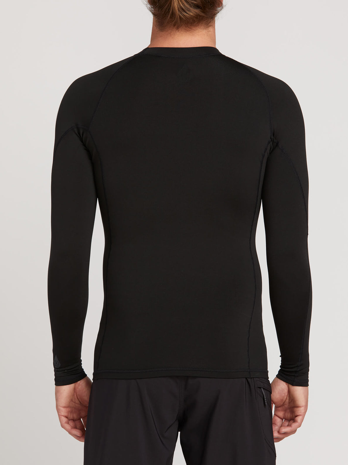 Hotainer Long Sleeve Rashguard In Black, Back View