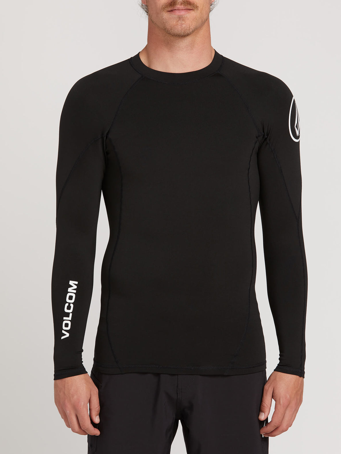 Hotainer Long Sleeve Rashguard In Black, Front View