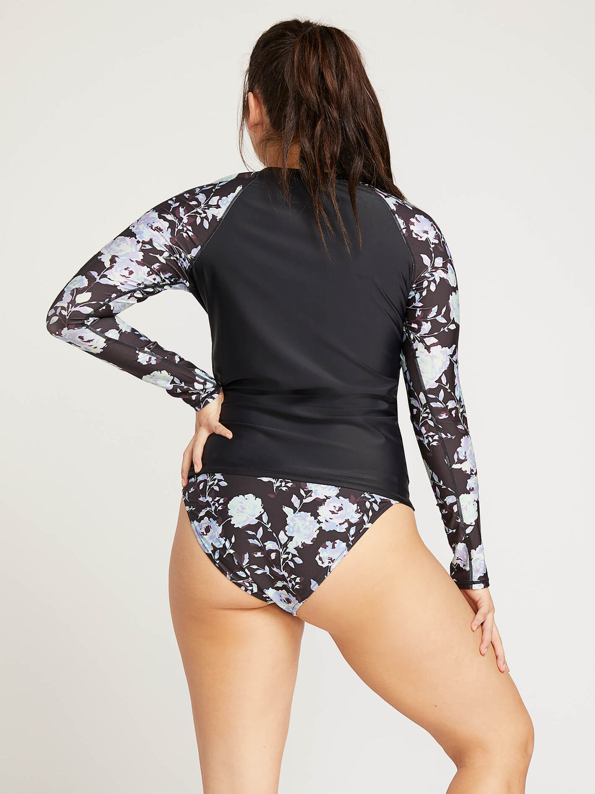 Noir U Sure Long Sleeve Rashguard In Black, Back Extended Size View