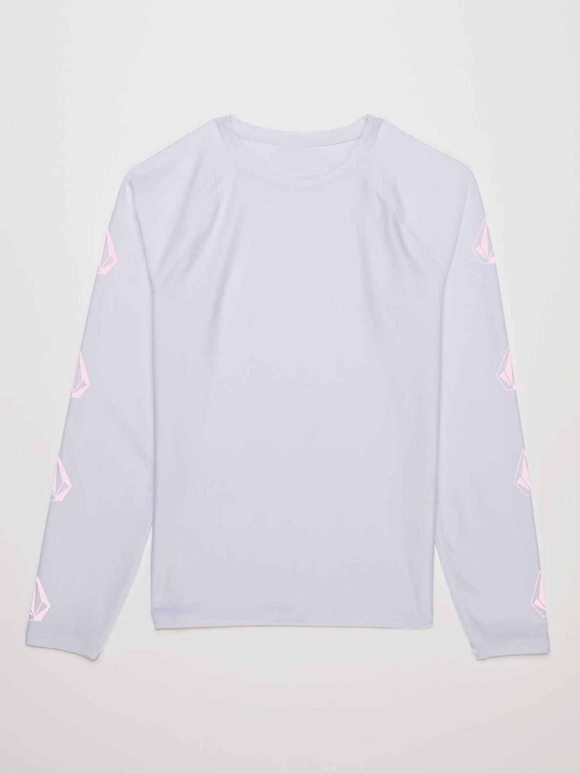 Little Girls Stone Plate Long Sleeve Rashguard In White, Alternate View