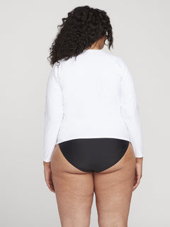 Simply Core Long Sleeve Rashguard Plus Size - White