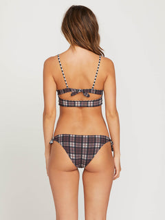 Plaid Attitude Scoop Reversible Crop Top In Dark Chocolate, Third Alternate View