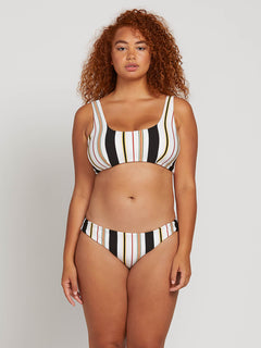That's Stripe Scoop Top In Multi, Front Plus Size View