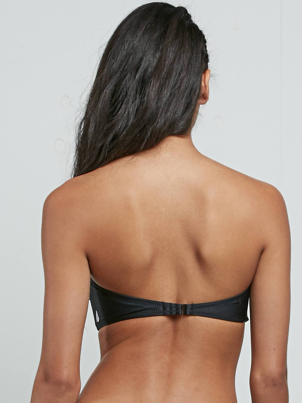 Simply Solid Bandeau In Black, Third Alternate View