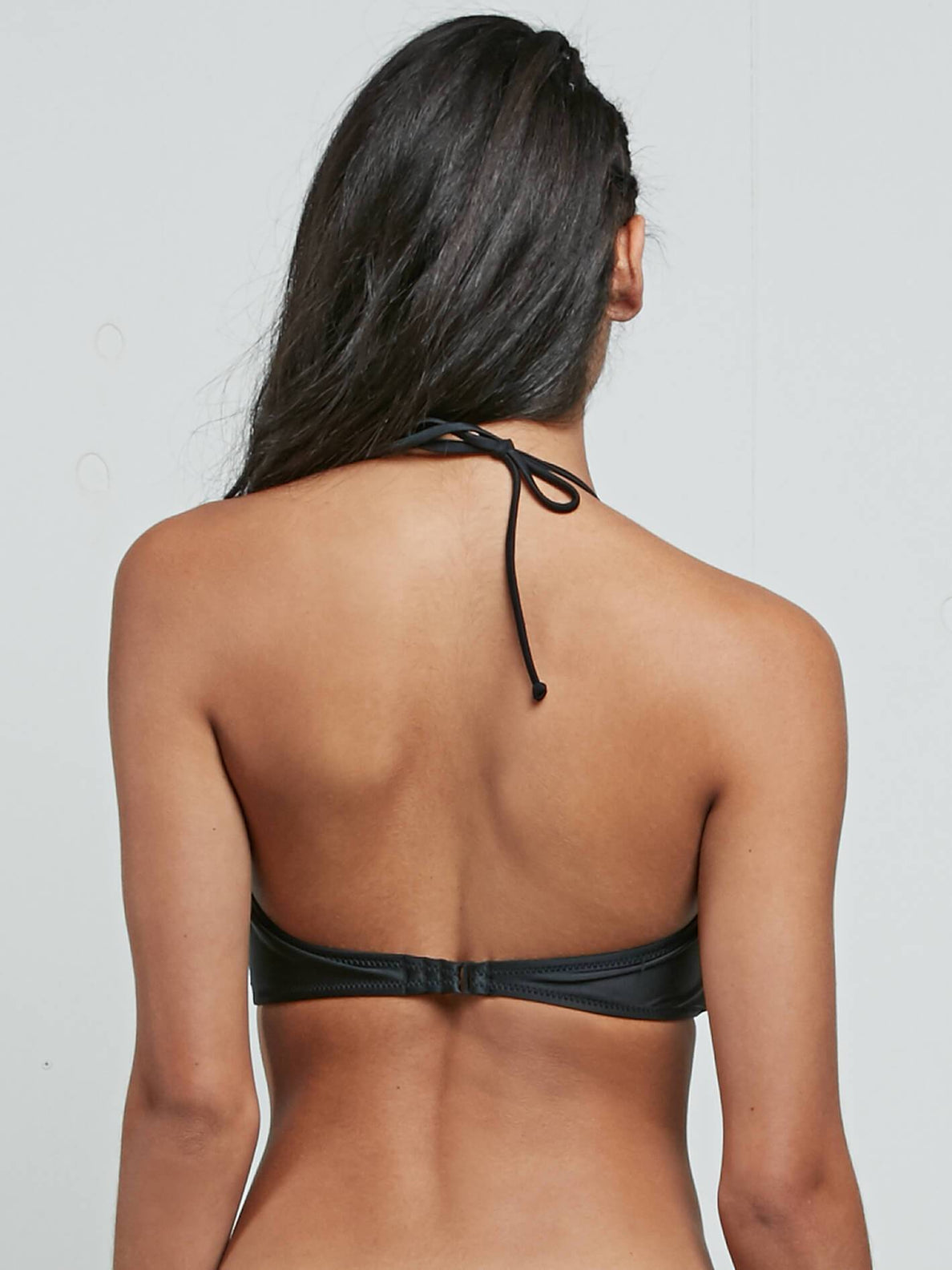 Simply Solid Bandeau In Black, Back View