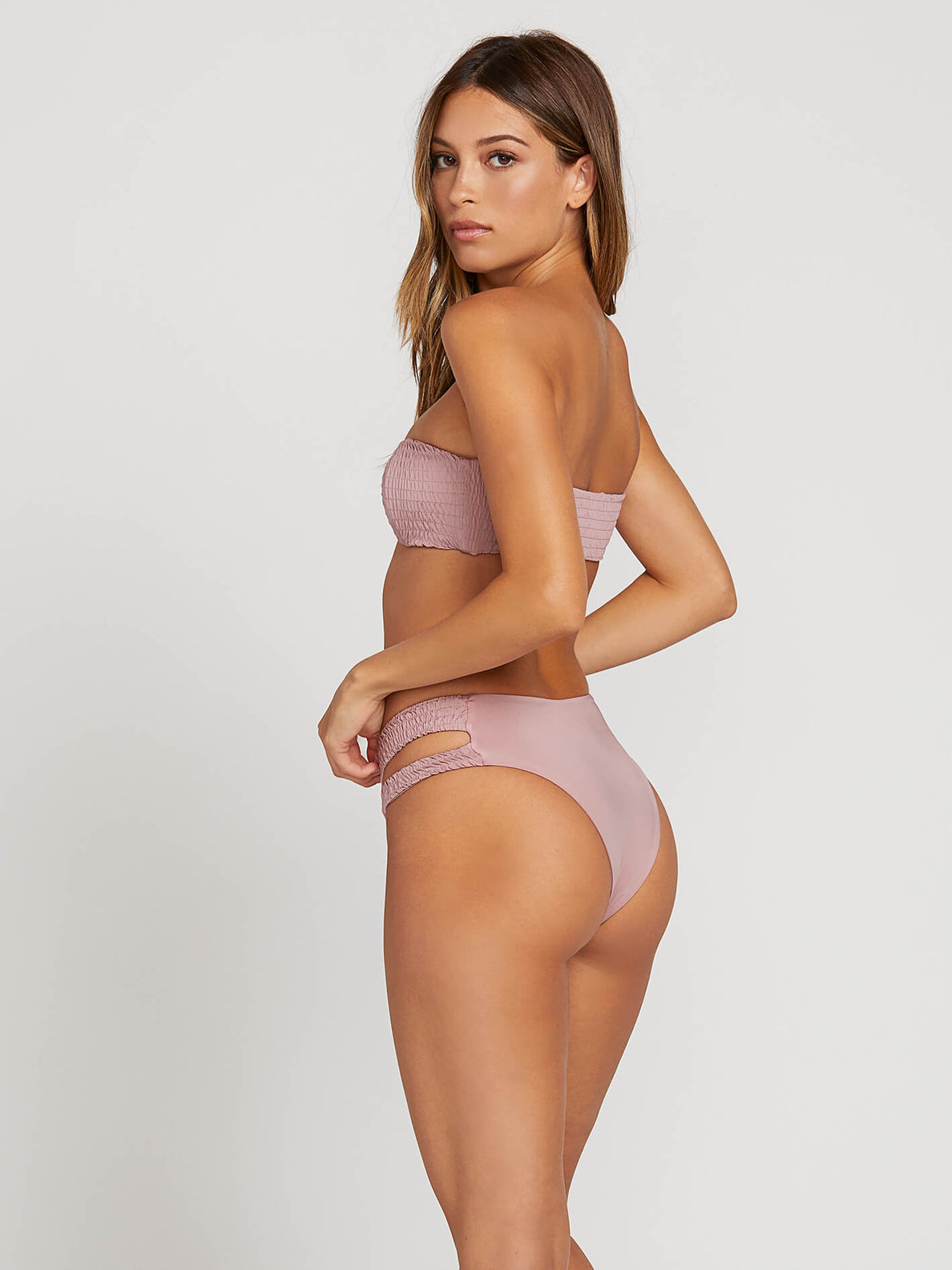 Smock That Bandeau In Faded Mauve, Alternate View