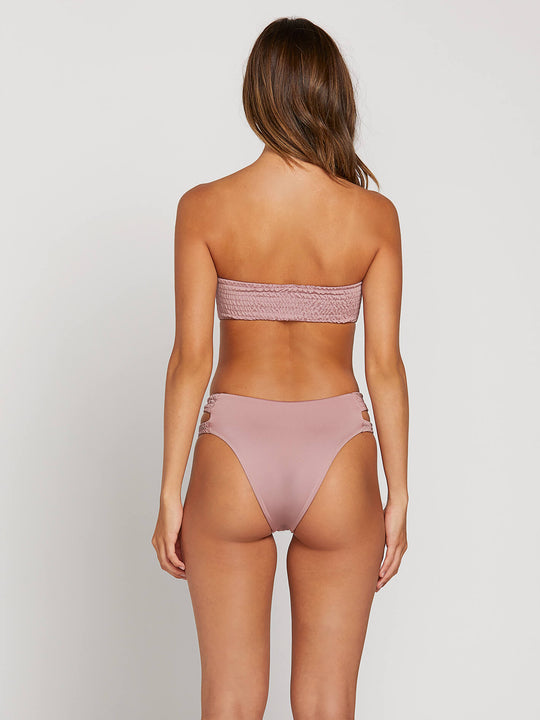 Smock That Bandeau In Faded Mauve, Back View