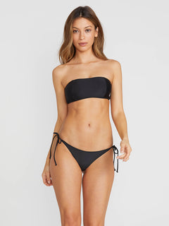 Simply Solid Bandeau In Black, Front View