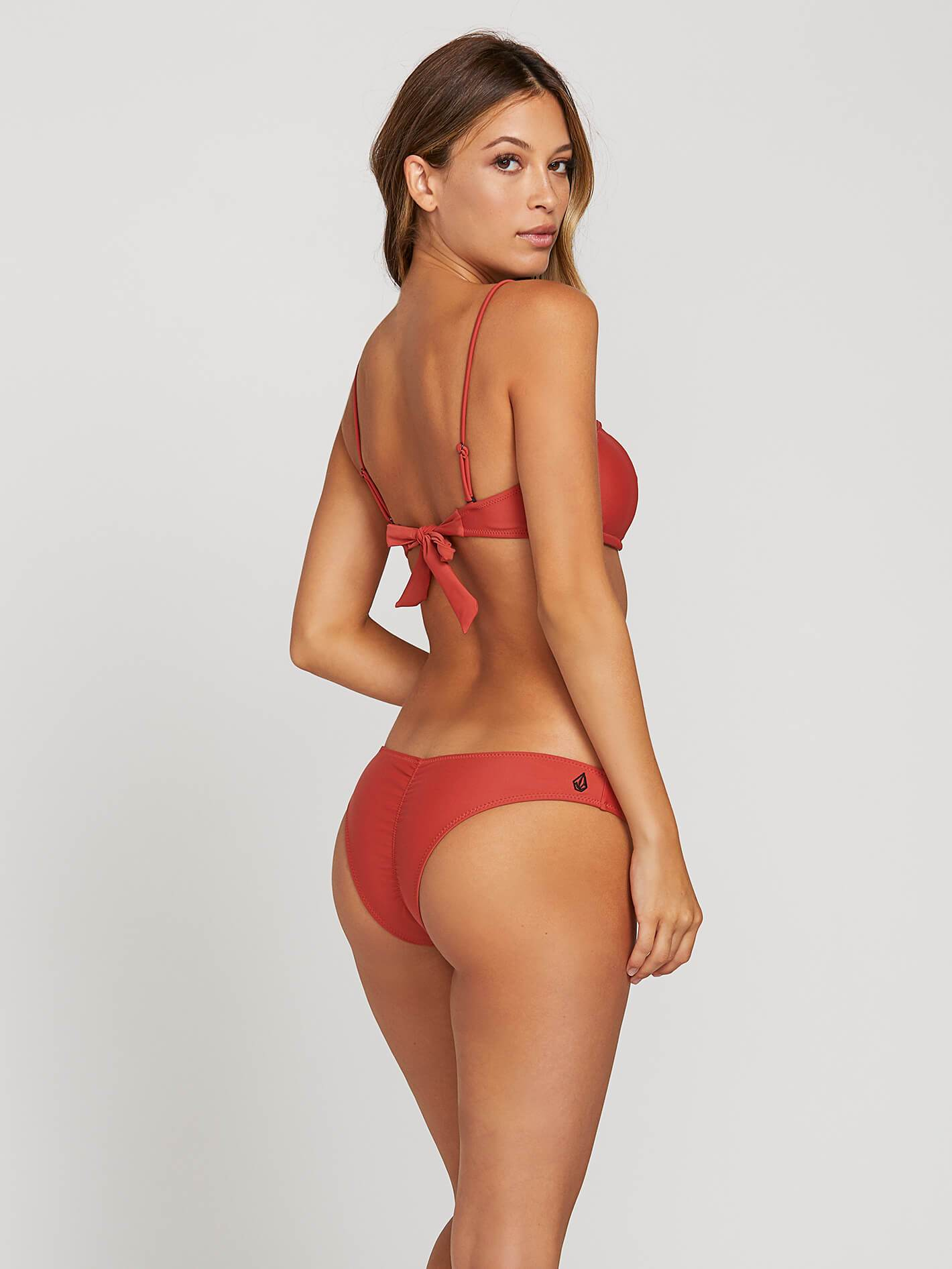 e540b631cf6aa Simply Solid Bandeau - Burnt Red in BURNT RED - Alternative View
