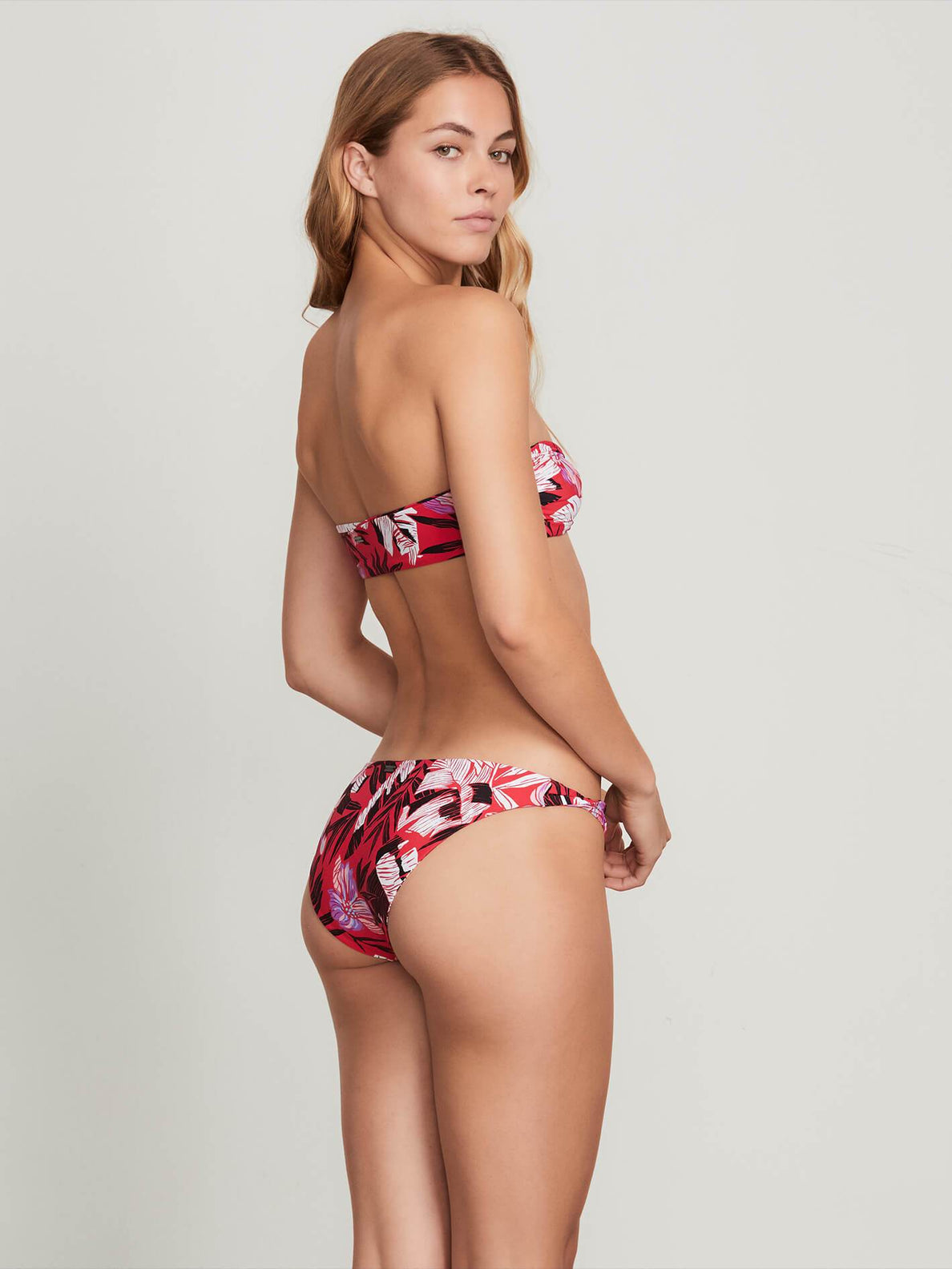 Sonic Bloom Bandeau In True Red, Back View