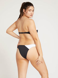 Simply Rib Bandeau In Black, Back Extended Size View