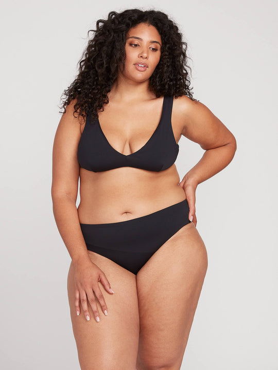Simply Seamless Halter Top Plus Size - Black