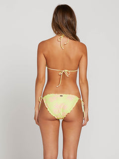 Take A Neon Triangle Top In Neon Yellow, Back View