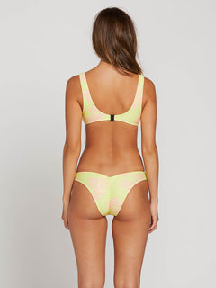 Take A Neon Underwire Top In Neon Yellow, Back View