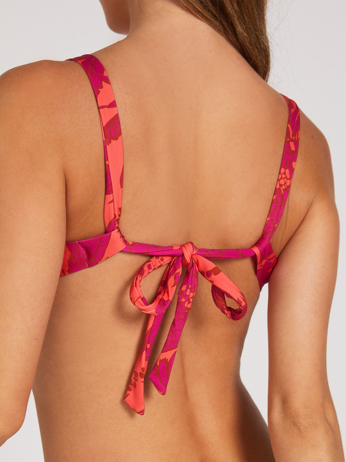 Palm Fun Day Underwire Top - Fuschia (O1522001_FUS) [50]
