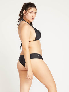 Simply Solid Cheeky Bottoms In Black, Back Extended Size View