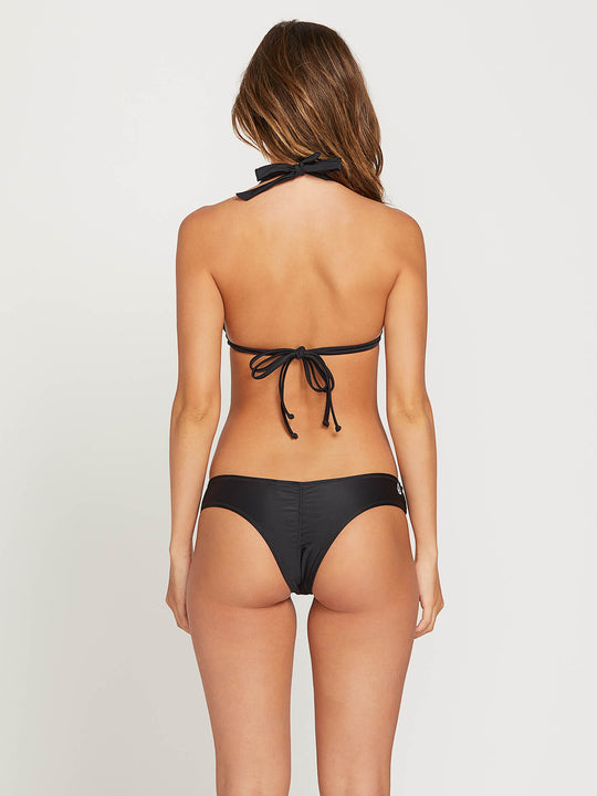 Simply Solid Cheeky Bottoms In Black, Back View