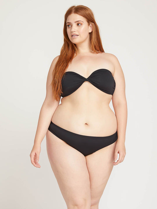 Simply Seamless Cheeky Bottoms In Black, Front Plus Size View