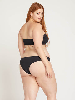 Simply Seamless Cheeky Bottoms In Black, Back Plus Size View