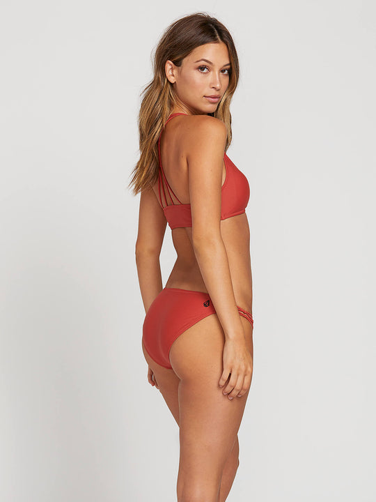 Simply Solid Full Bottoms In Burnt Red, Alternate View