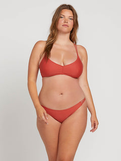 Simply Solid Full Bottoms In Burnt Red, Front Extended Size View