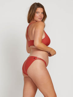 Simply Solid Full Bottoms In Burnt Red, Back Extended Size View