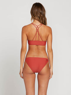 Simply Solid Full Bottoms In Burnt Red, Back View