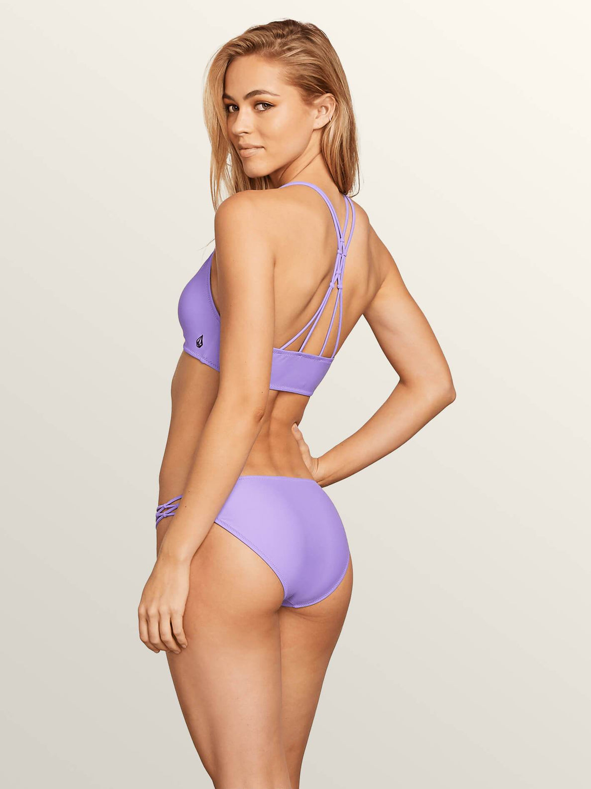 Simply Solid Full In Iris Purple, Back View