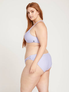 Simply Solid Full Bottoms In Violet, Second Alternate Plus Size View