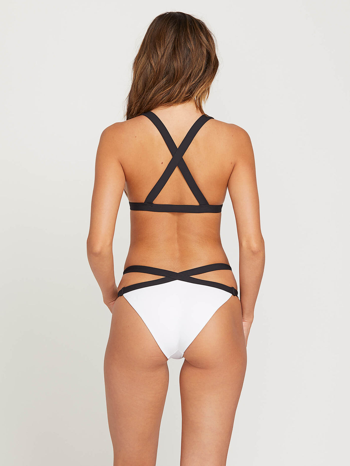 Simply Rib Hipster Bottoms In White, Back View