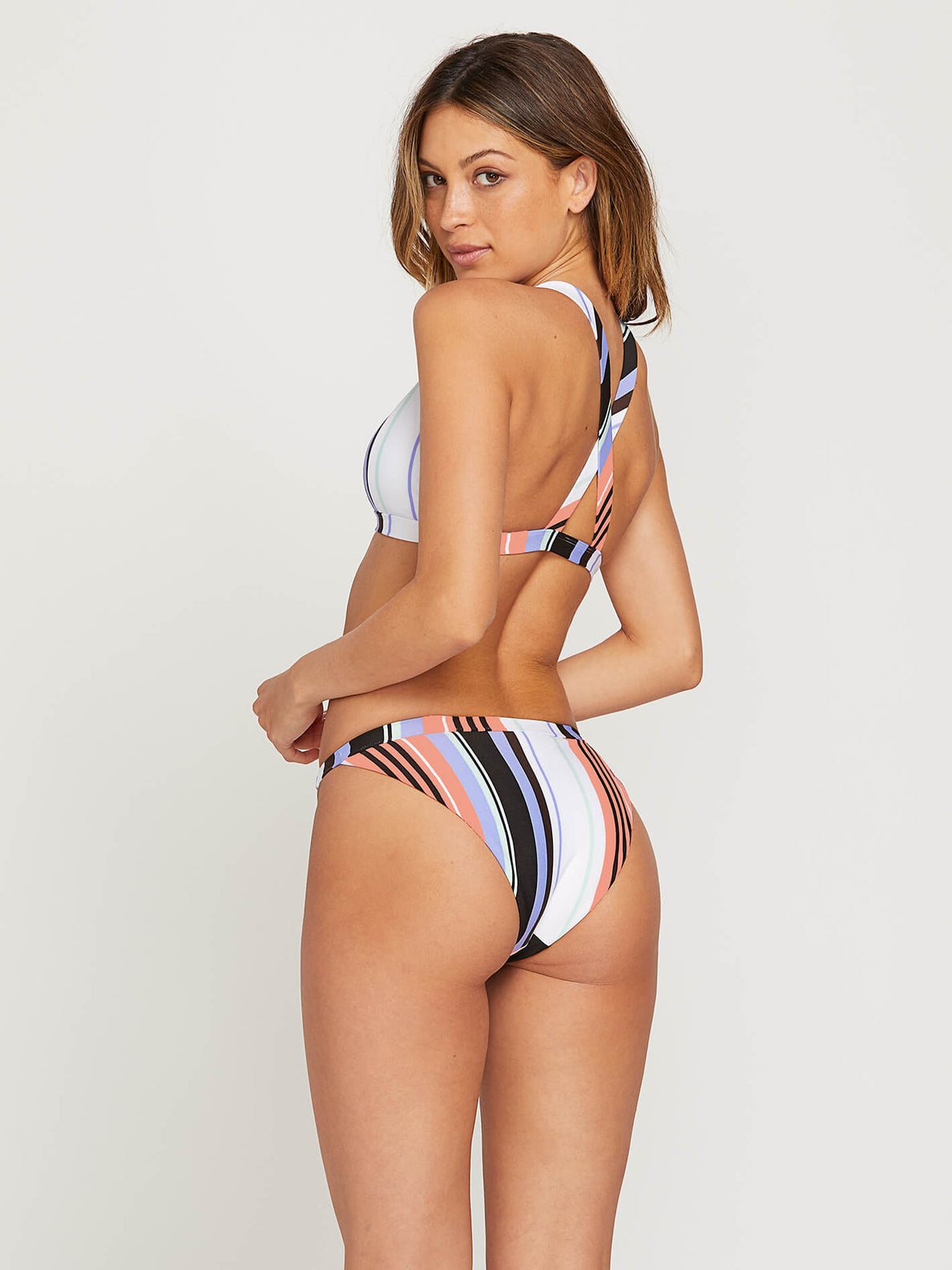 Stripe Tease Hipster Bottoms In Multi, Alternate View