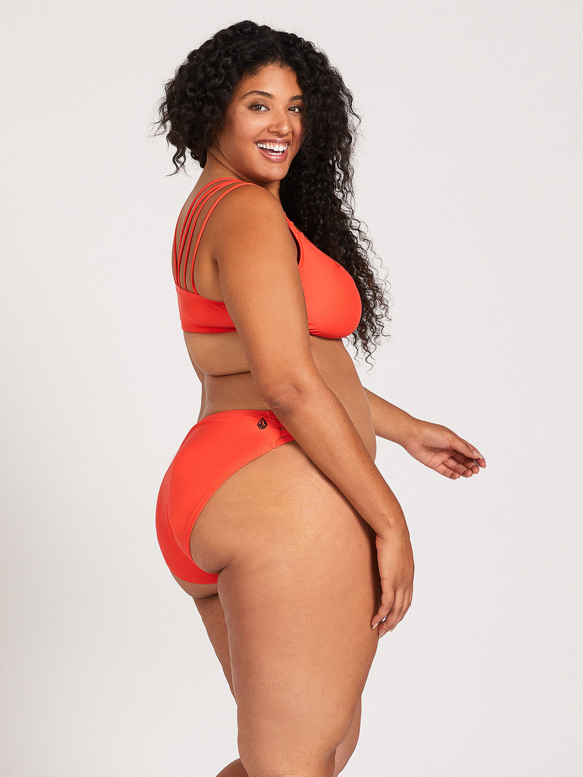 Simply Solid Full Bottom Plus Size - Electric Coral (O2241905P_ELC) [F]