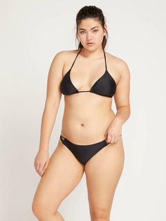 Simply Solid Tiny Bottoms In Black, Front Extended Size View