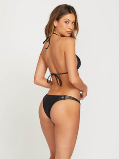 Simply Solid Tiny Bottoms In Black, Front View