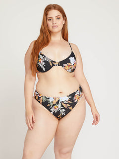 Tropakill Retro Bottoms In Black, Front Plus Size View