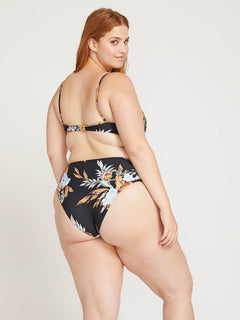 Tropakill Retro Bottoms In Black, Back Plus Size View