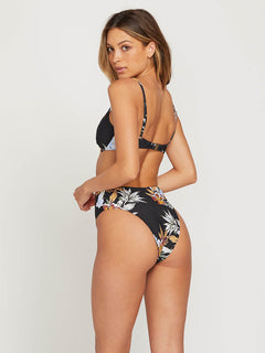 Tropakill Retro Bottoms In Black, Front View