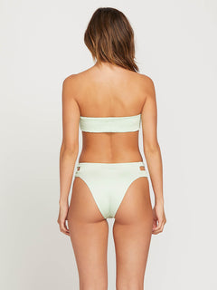 Smock That Retro Bottoms In Spearmint, Back View