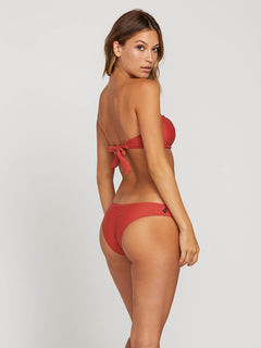 Simply Solid V Bottoms In Burnt Red, Alternate View