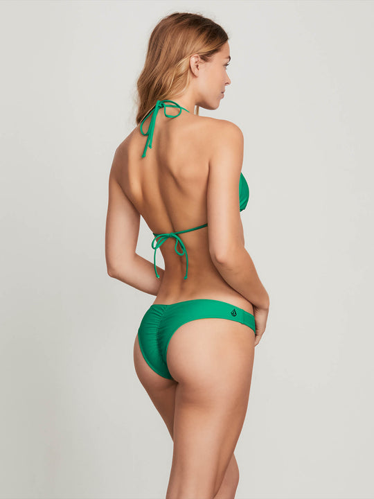 Simply Solid V Bottoms In Green Spray, Back View