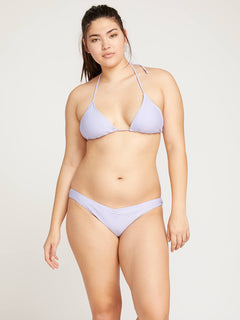 Simply Solid V Bottoms In Violet, Back Extended Size View
